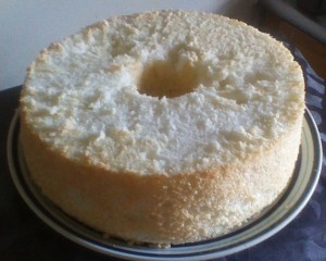 Full size 10 inch angel food cake